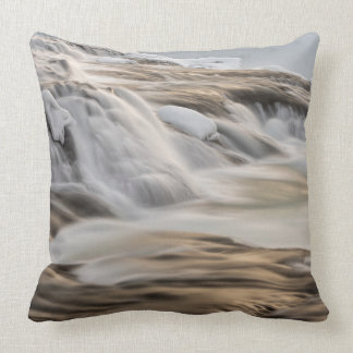 Godafoss waterfall, winter, Iceland Cushion