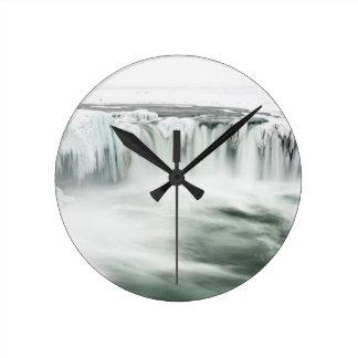 Godafoss waterfall, winter, Iceland Round Clock