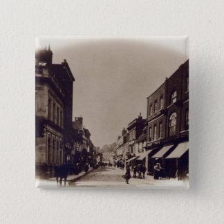 Godalming High Street, Surrey, c.1900 15 Cm Square Badge