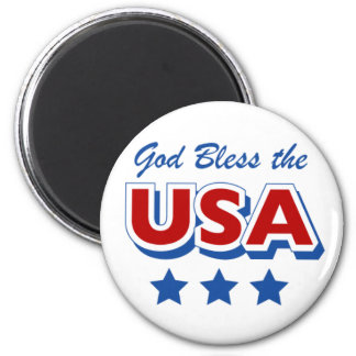 Godbless the USA 6 Cm Round Magnet