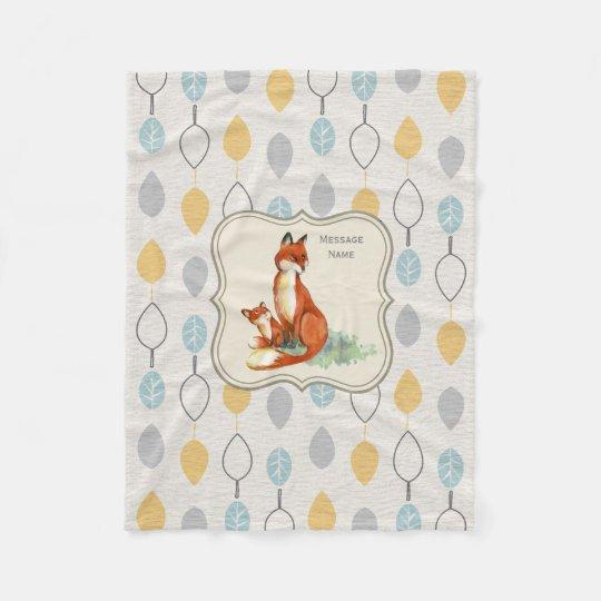 Godchild Gift Idea Personalised Fox Blanket