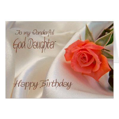 GODDAUGHTER Birthday with Pink Rose and Lace Trim Card – Goddaughter Birthday Cards