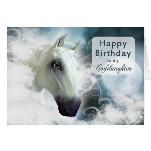 Goddaughter birthday, Arabian Horse Cards