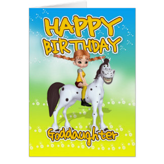 Goddaughter Birthday Card - Cutie Pie Long Stockin