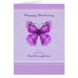 Goddaughter Birthday Card - Purple Butterfly