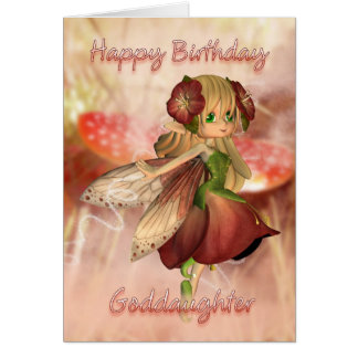 Goddaughter Birthday Card With Strawberry & Cream