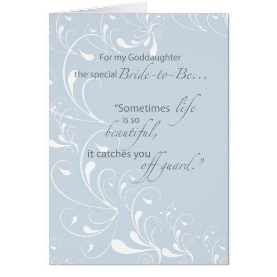Goddaughter Bridal Shower Congratulations Light Bl Card