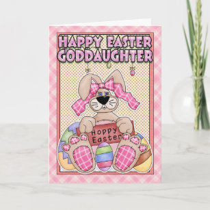 Goddaughter easter gifts gift ideas zazzle uk goddaughter easter card easter bunny easter eg negle Gallery