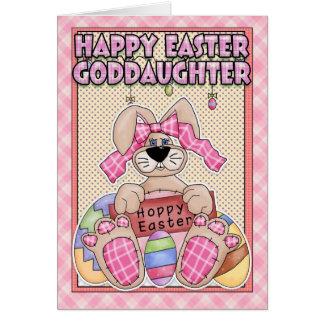 Goddaughter Easter Card - Easter Bunny Easter Eg