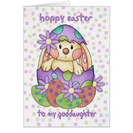 Goddaughter easter gifts on zazzle uk goddaughter easter card with easter bunny greeti negle Gallery