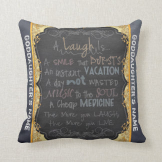 Goddaughter Gift Be Happy Personalized Cushion