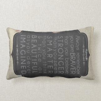 Goddaughter Gift Motivational Words Personalised 2 Lumbar Cushion
