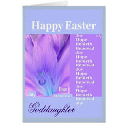 Goddaughter easter gifts on zazzle uk goddaughter happy easter with lily card negle Gallery