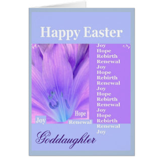 Goddaughter easter gifts t shirts art posters other gift goddaughter happy easter with lily card negle Image collections