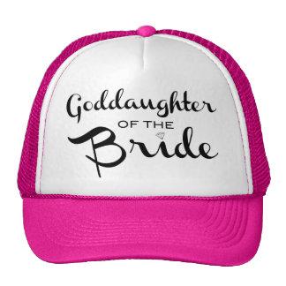 Goddaughter of Bride Trucker Hat Black Mesh Hats