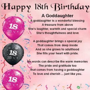 Goddaughter Poem Gifts Gift Ideas
