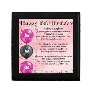 Goddaughter Poem - 18th Birthday Gift Box