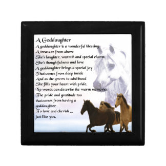 Goddaughter Poem - Horses Design Gift Box