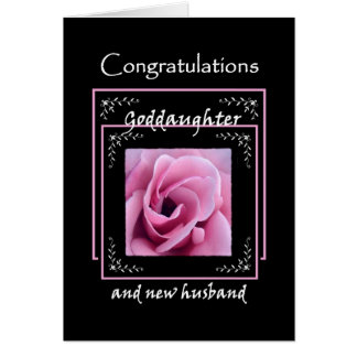 GODDAUGHTER Wedding Congratulations - Pink Rose Card