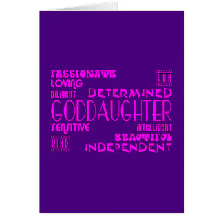 Goddaughters Baptims Christening Parties Qualities Card