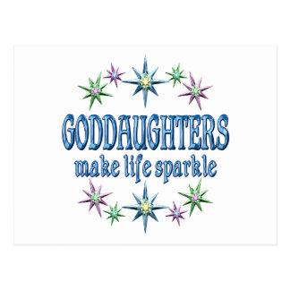 Goddaughters Sparkle Postcard