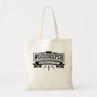 #GODDEEPER (TM)- Freedom In Him Tote Bag (Natural)
