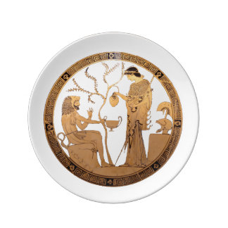 Goddess Athena and Heracles Plate