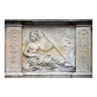 Goddess Athena Relief Photograph