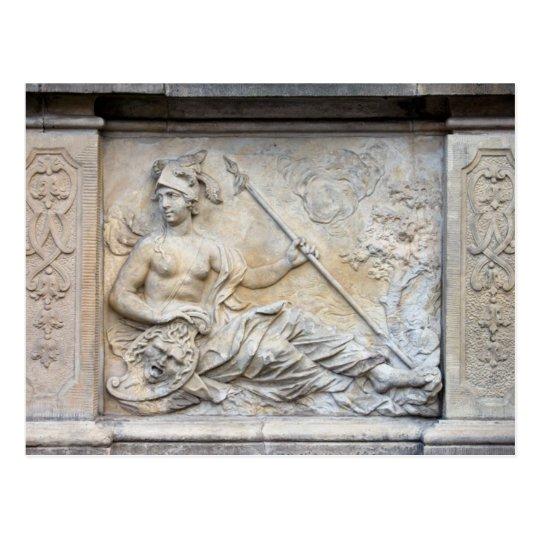 Goddess Athena Relief Postcard