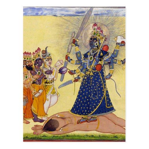 Goddess Bhadrakali Worshipped by the Gods 1675 Post Card