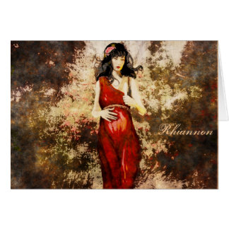Goddess Birthday Greeting Card