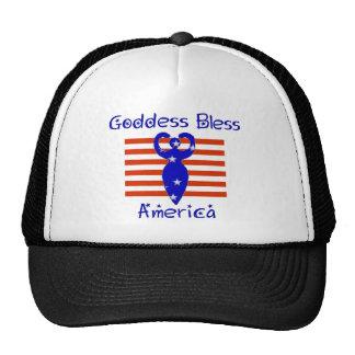 Goddess Bless America Mesh Hats