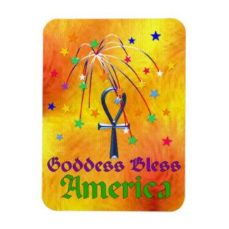 Goddess Bless America Rectangle Magnet