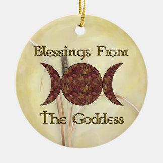 Goddess Blessings Christmas Ornament