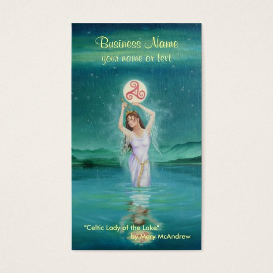 Goddess Business Card / Celtic Lady of Lake