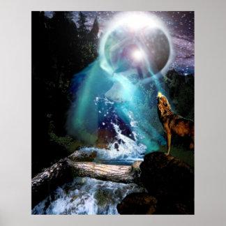 Goddess De La Lune Poster