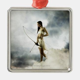 Goddess Diana with bow and arrow Christmas Ornament