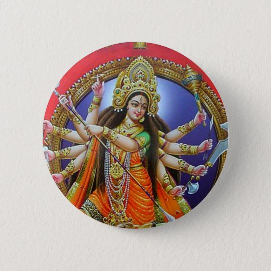 Goddess Durga 6 Cm Round Badge