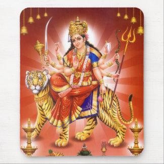 Goddess Durga (Hindu goddess) Mouse Pad