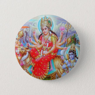 Goddess Durga Ji 6 Cm Round Badge