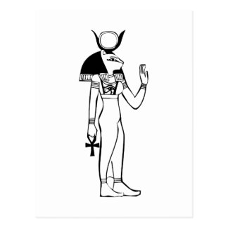 Goddess, Egyptian hieroglyph Postcard