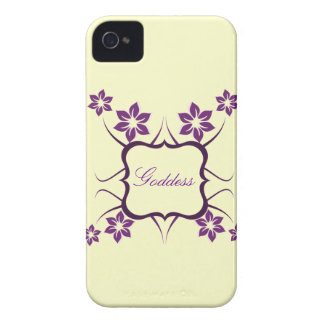 Goddess Floral BT BB Bold Case, Purple Case-Mate iPhone 4 Cases