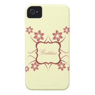 Goddess Floral BT BB Bold Case, Red Case-Mate iPhone 4 Case