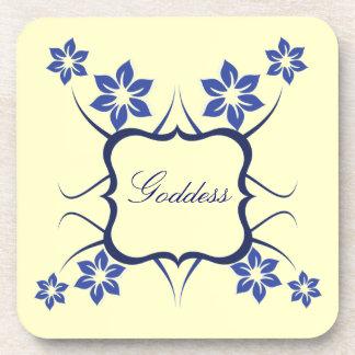 Goddess Floral Coaster Set Blue