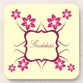 Goddess Floral Coaster Set Pink
