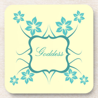 Goddess Floral Coaster Set Teal