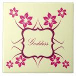 Goddess Floral Tile, Pink