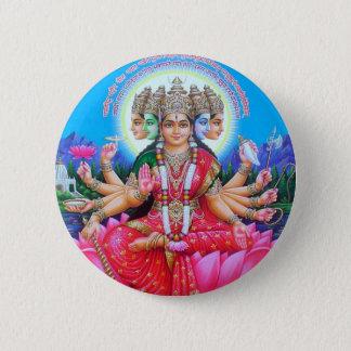 Goddess Gayatri Devi 6 Cm Round Badge