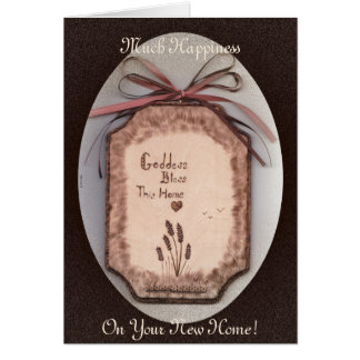 Goddess House Blessing/New Home Triskele Greeting Card