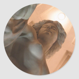 Goddess in Stone Classic Round Sticker
